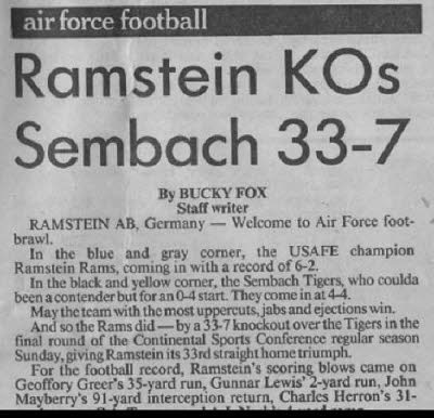 Ramstein Rams Article 7